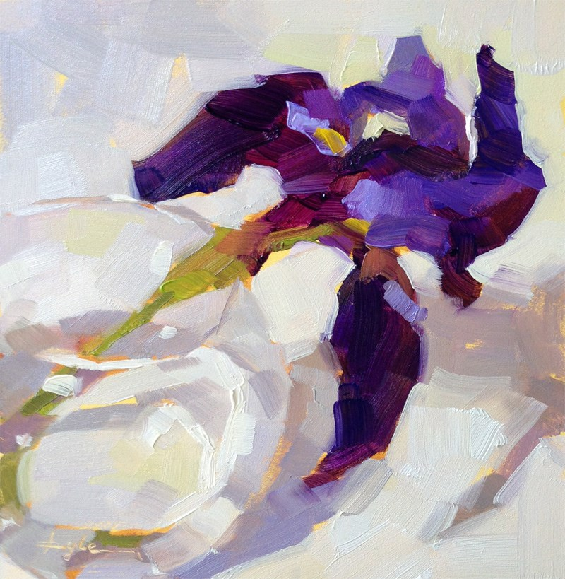 """Purple Iris"" original fine art by Katia Kyte"