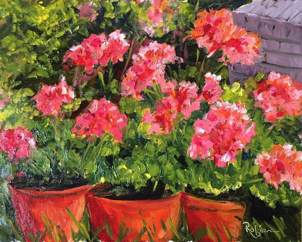 """Neighborhood Blossoms "" original fine art by Renee Robison"