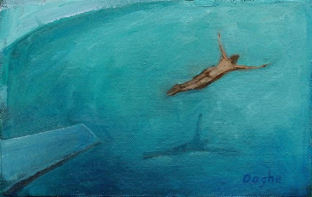 """Diving Nude"" original fine art by Angela Ooghe"