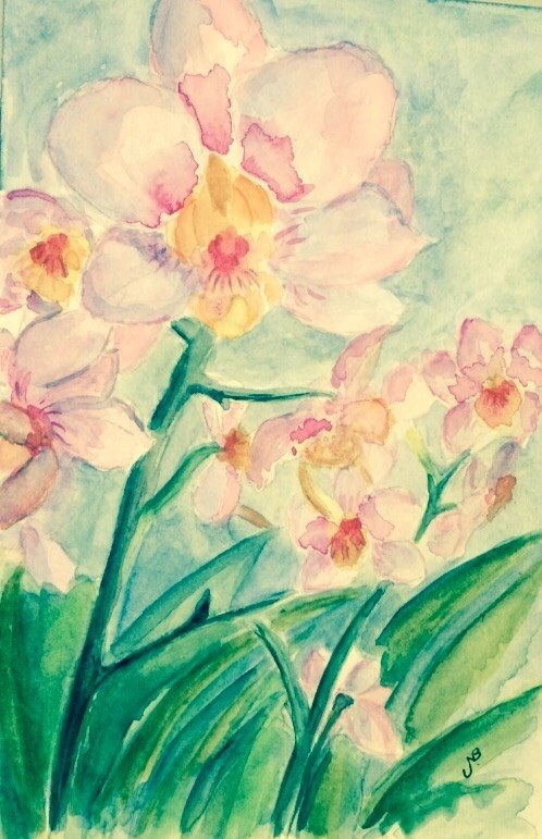 """Orchids #1"" original fine art by Nancy Beard"