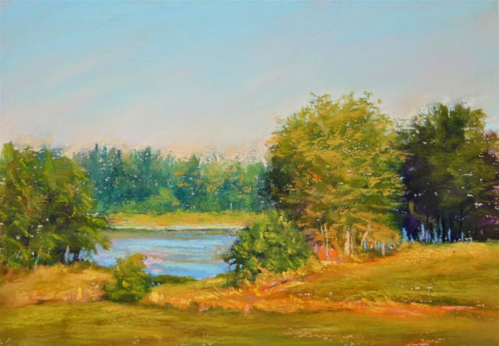 """Along the Water's Edge"" original fine art by Sharon Lewis"