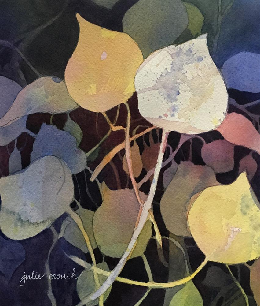 """Aspen Leaves"" original fine art by Julie Crouch"