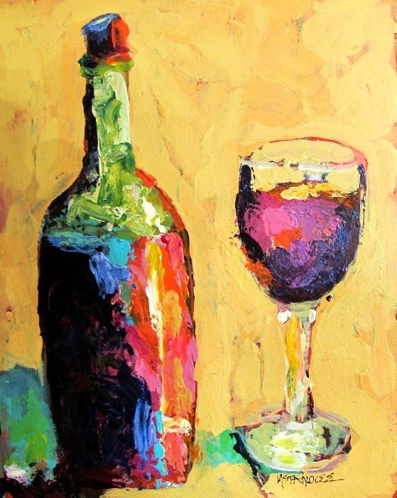 """Wine Walk 12060, (a donation)"" original fine art by Nancy Standlee"