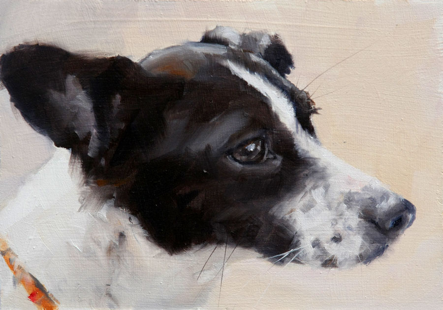 """Mutt"" original fine art by Clair Hartmann"