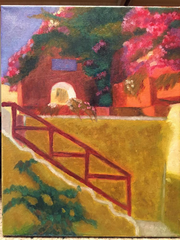 """The Corner"" original fine art by Jiani Shan"