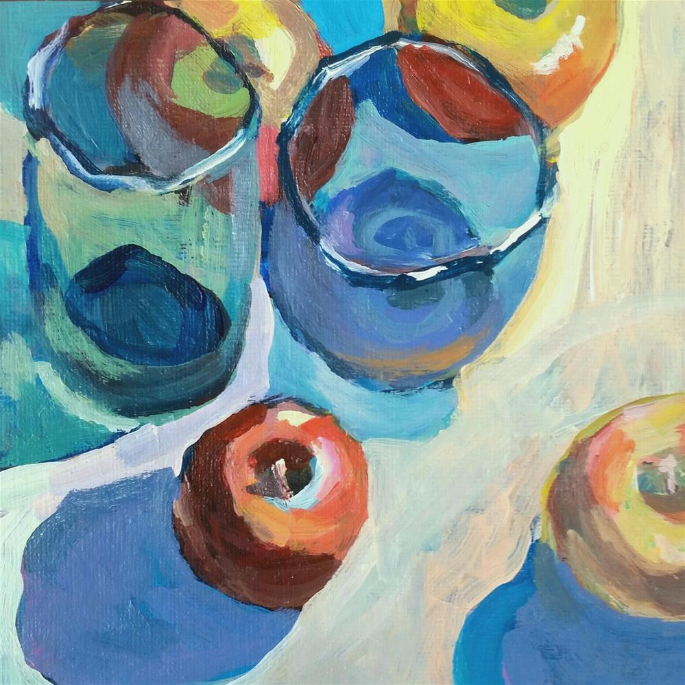 """Random Fruit and Glass Display "" original fine art by Liz Maynes"