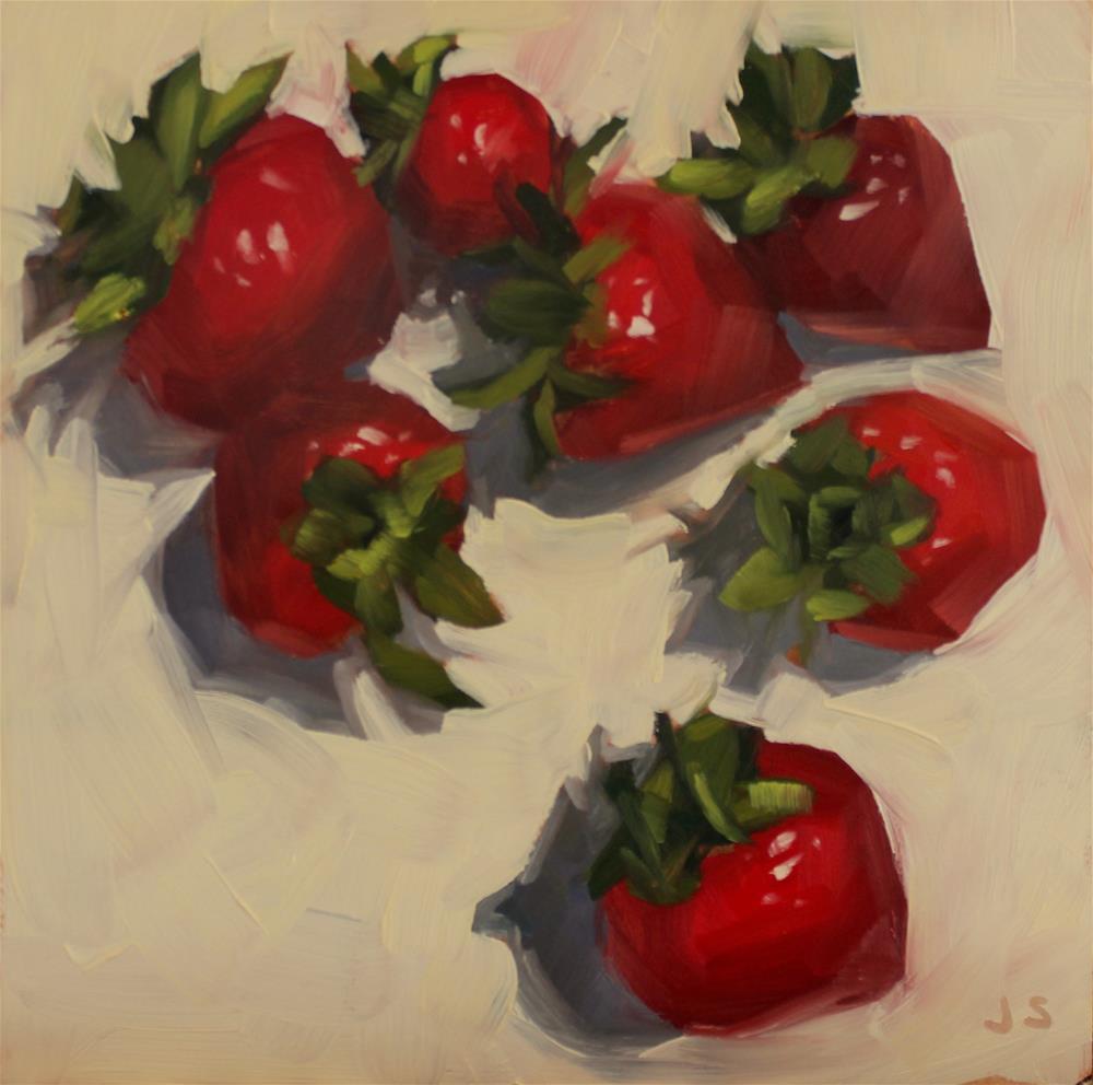"""Strawberries Galore"" original fine art by Jamie Stevens"