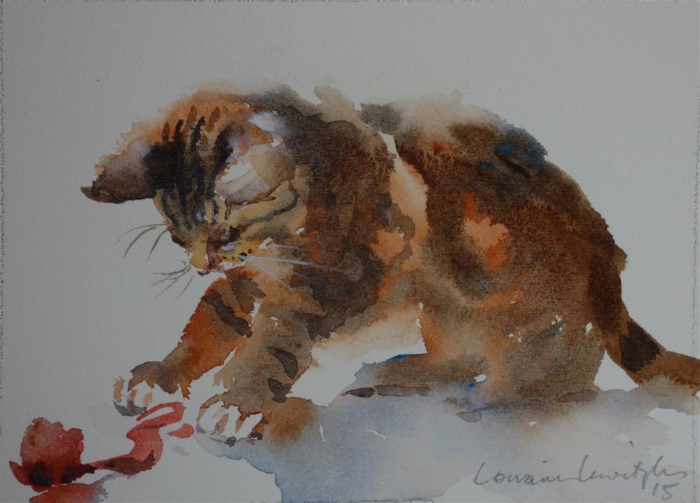 """""""Curious Cat"""" original fine art by Lorraine Lewitzka"""