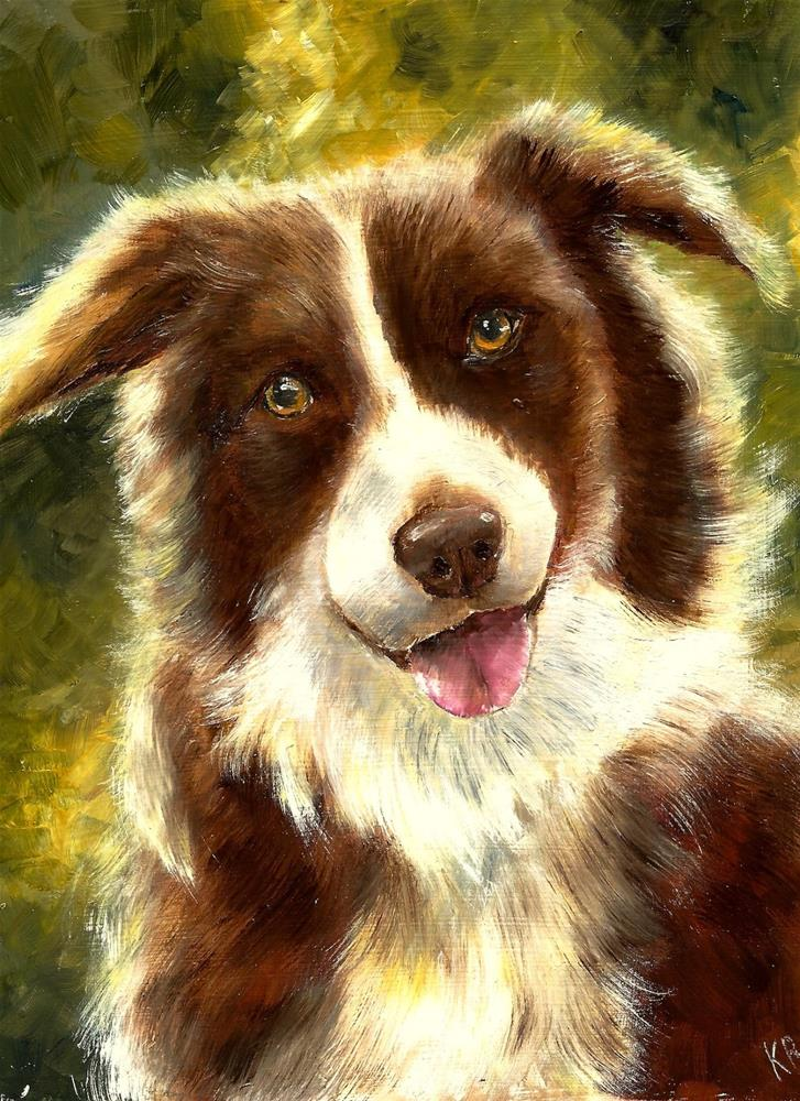 """Brown Collie"" original fine art by Karen Robinson"