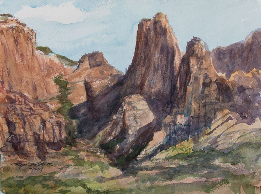 """Kolob Mountains, Zion"" original fine art by Rafael DeSoto Jr."