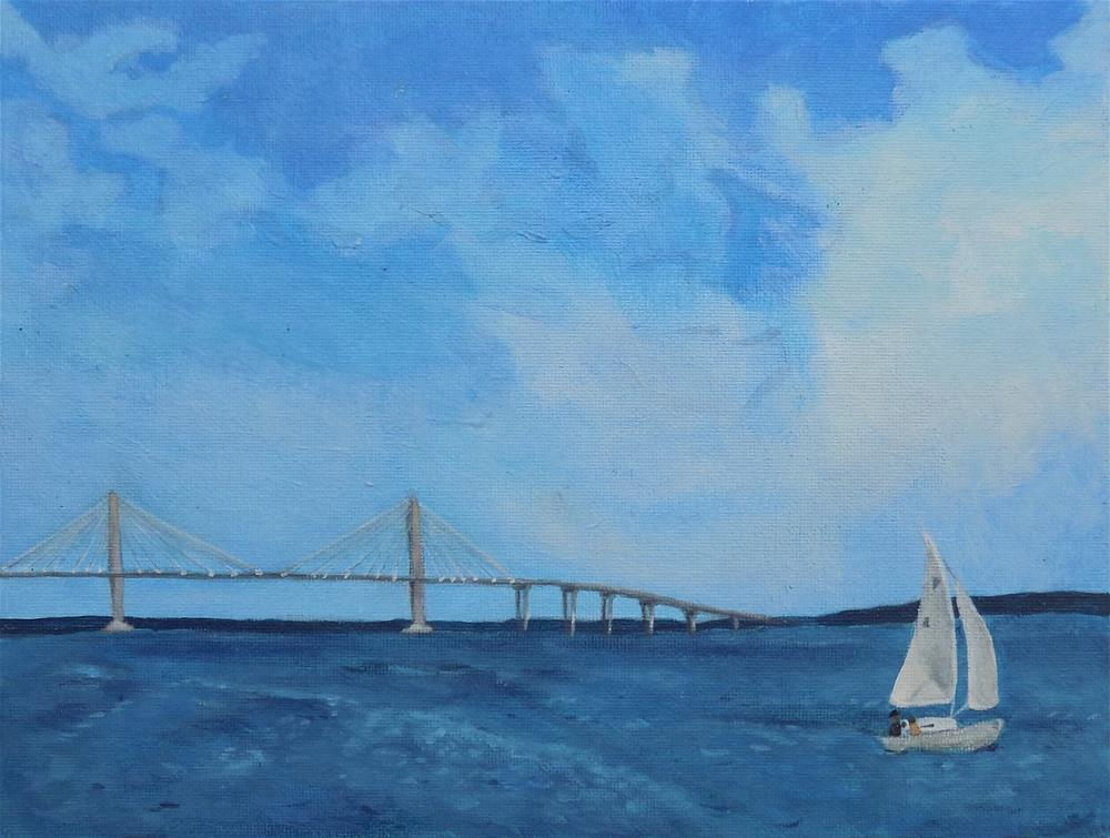 """Ravenel Bridge"" original fine art by Emily Clanton"