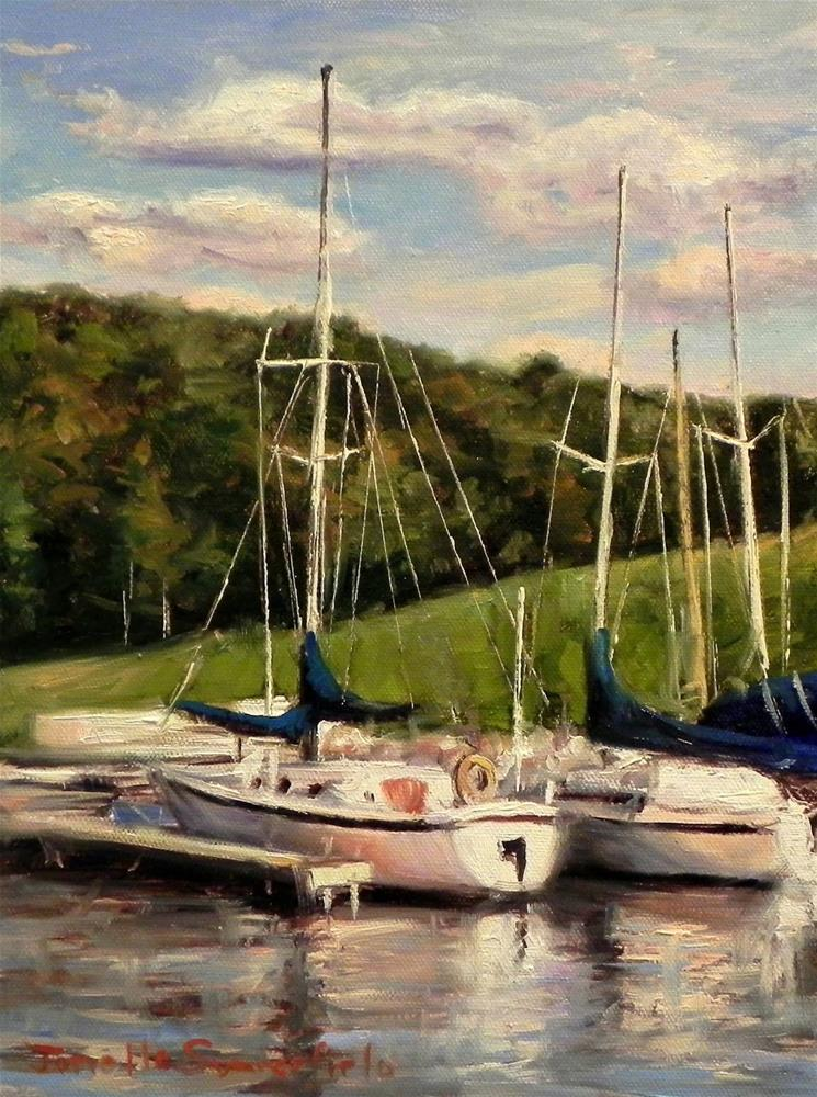 """Two Boats"" original fine art by Jonelle Summerfield"