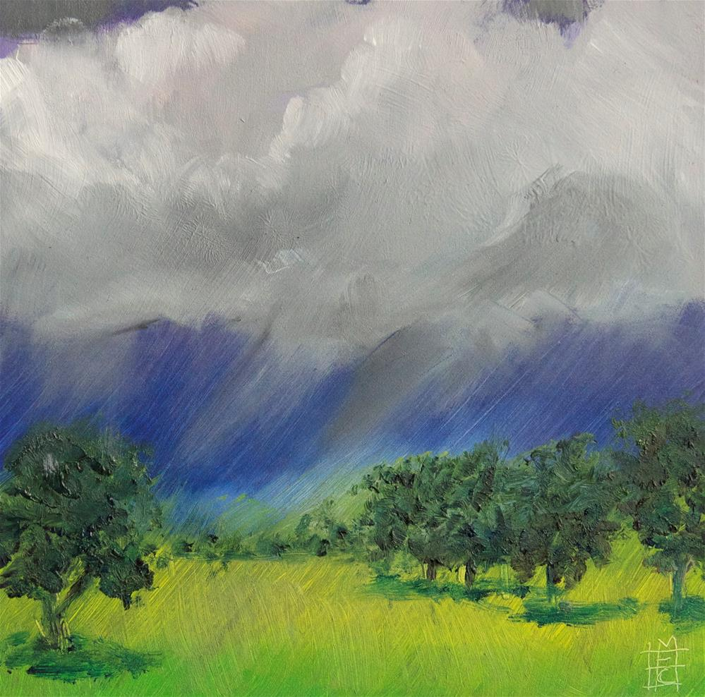 """Orchard Storm"" original fine art by Margot Cole"
