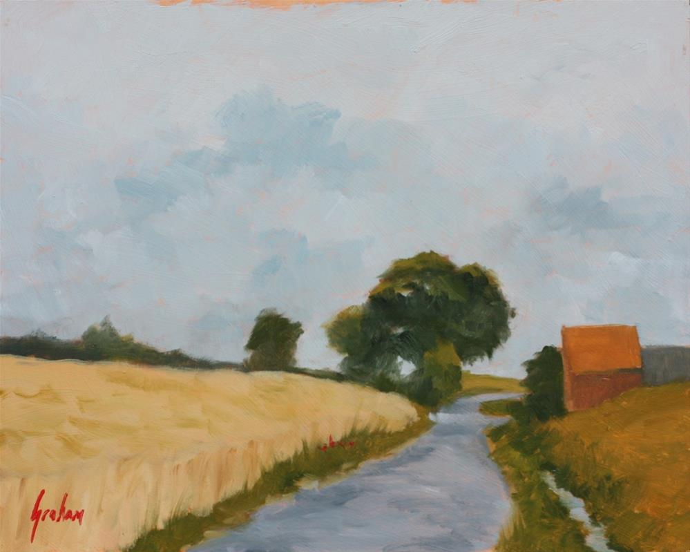"""Late afternoon wheat field"" original fine art by Graham Townsend"