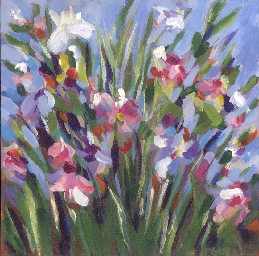 """Wildflower Blue"" original fine art by Pamela Gatens"