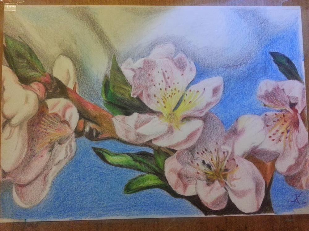 """Early spring"" original fine art by Konstantia Karletsa"