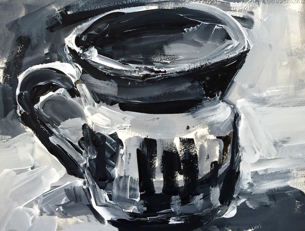 """My Favorite Mug"" original fine art by Mary Schiros"