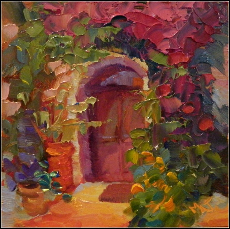 """Threshold to Joy, 6x6, oil on gessoboard by Maryanne Jacobsen"" original fine art by Maryanne Jacobsen"