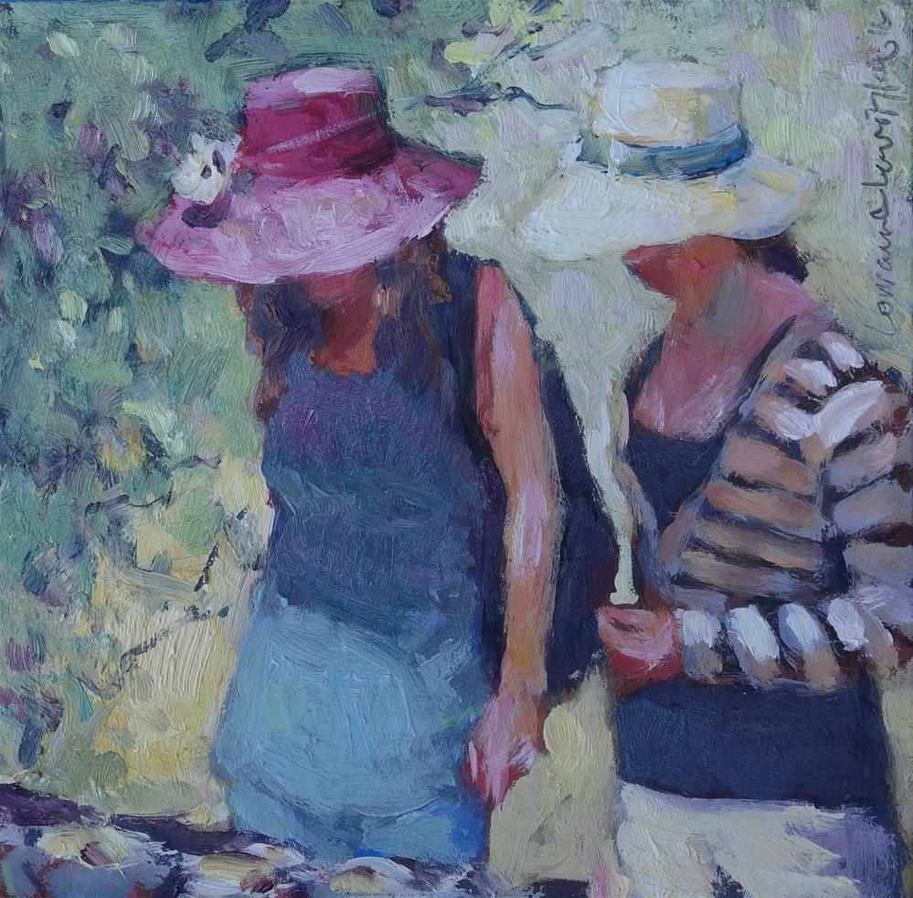 """Hats on a Hot Day"" original fine art by Lorraine Lewitzka"