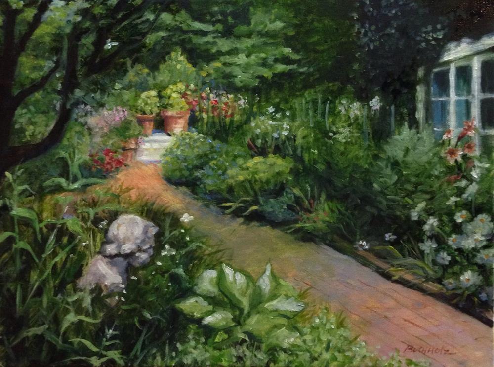 """Calm Gardens"" original fine art by Terri Buchholz"