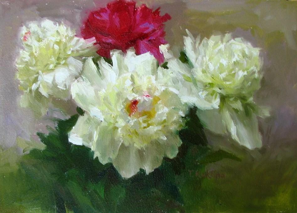 """""""peonies"""" original fine art by Taisia Kuklina"""