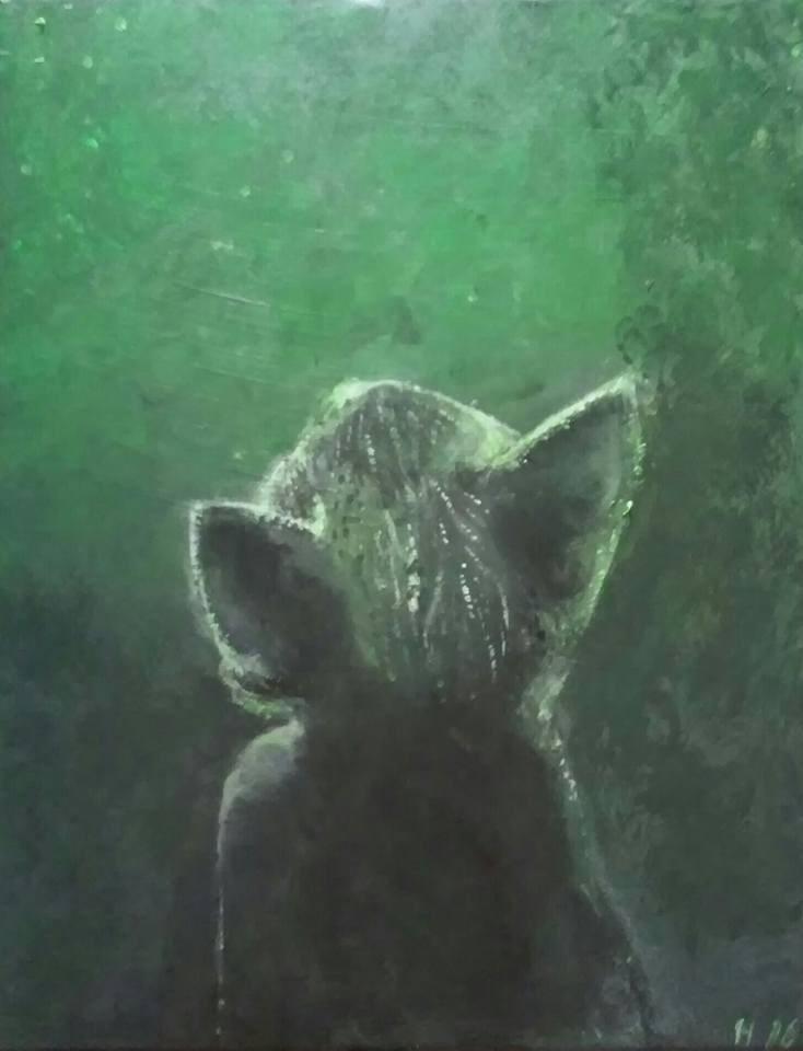 """""""Padwan Vert"""" original fine art by Hallie Dozier"""