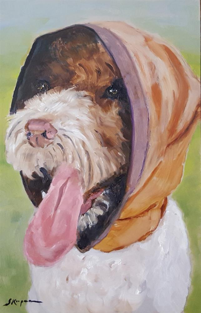 """Tallulah Dressed for a Car Ride"" original fine art by Shelley Koopmann"