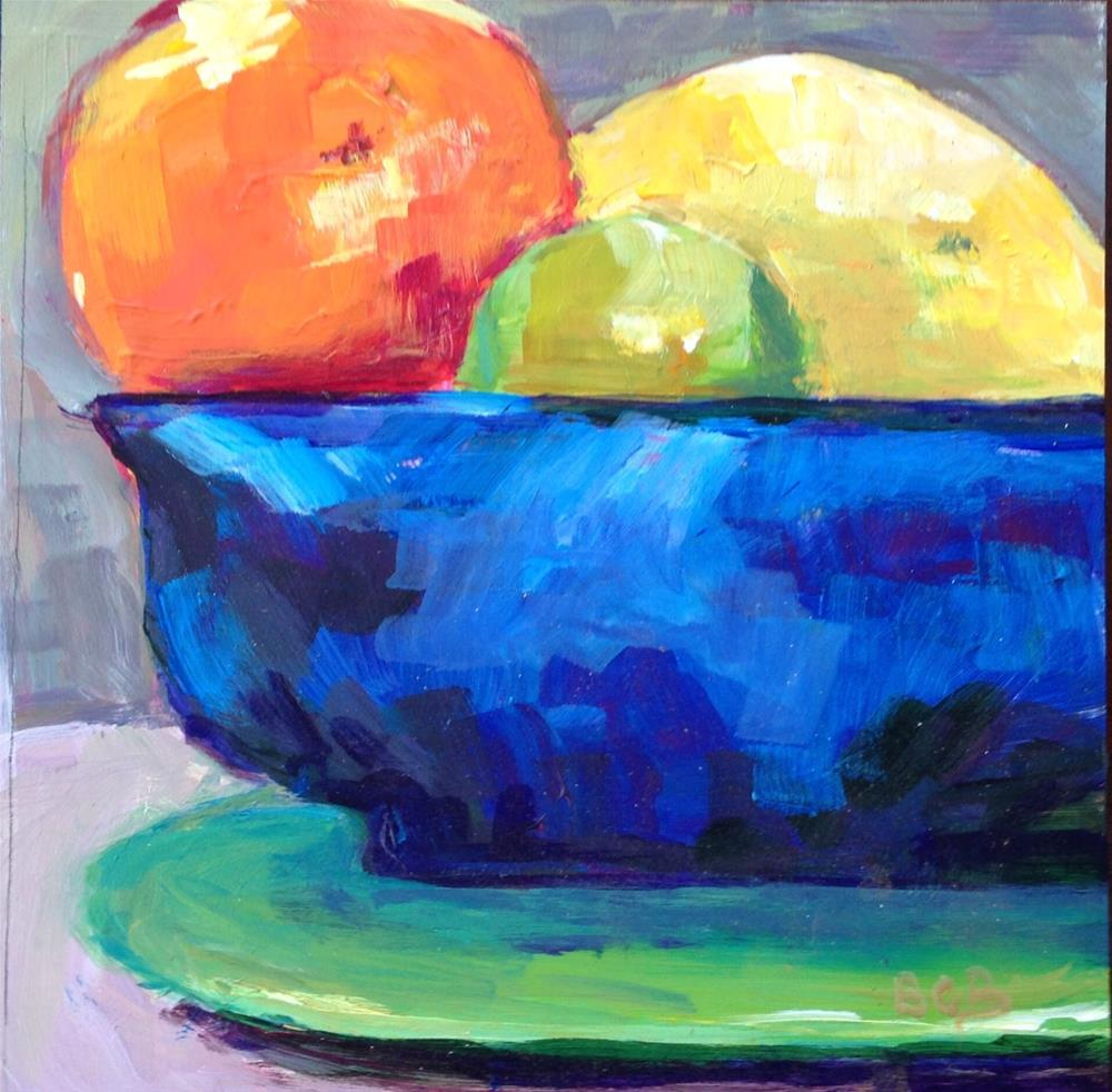 """Citrus Challenge 1"" original fine art by Beth Carrington Brown"