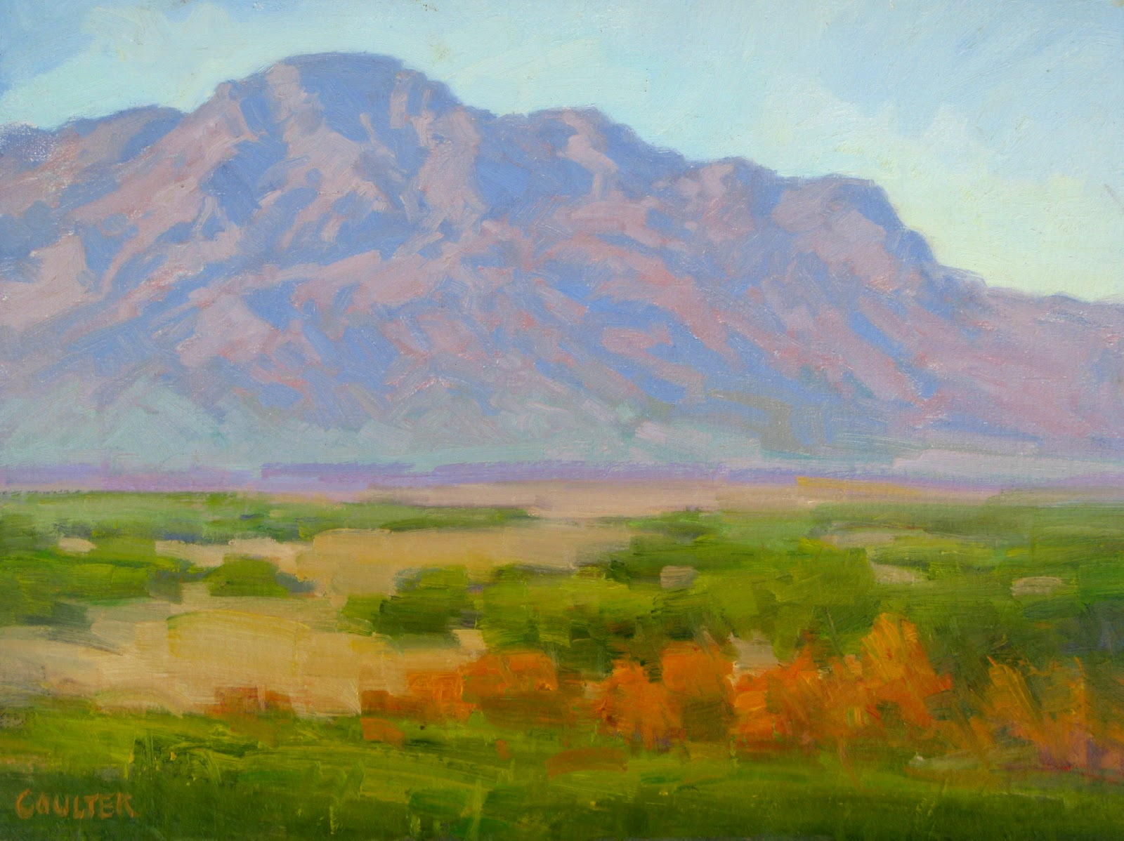 """LaJolla Hills"" original fine art by James Coulter"