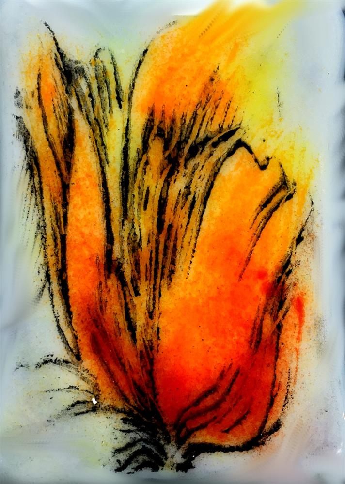 """Red Wisp"" original fine art by Kristen Dukat"