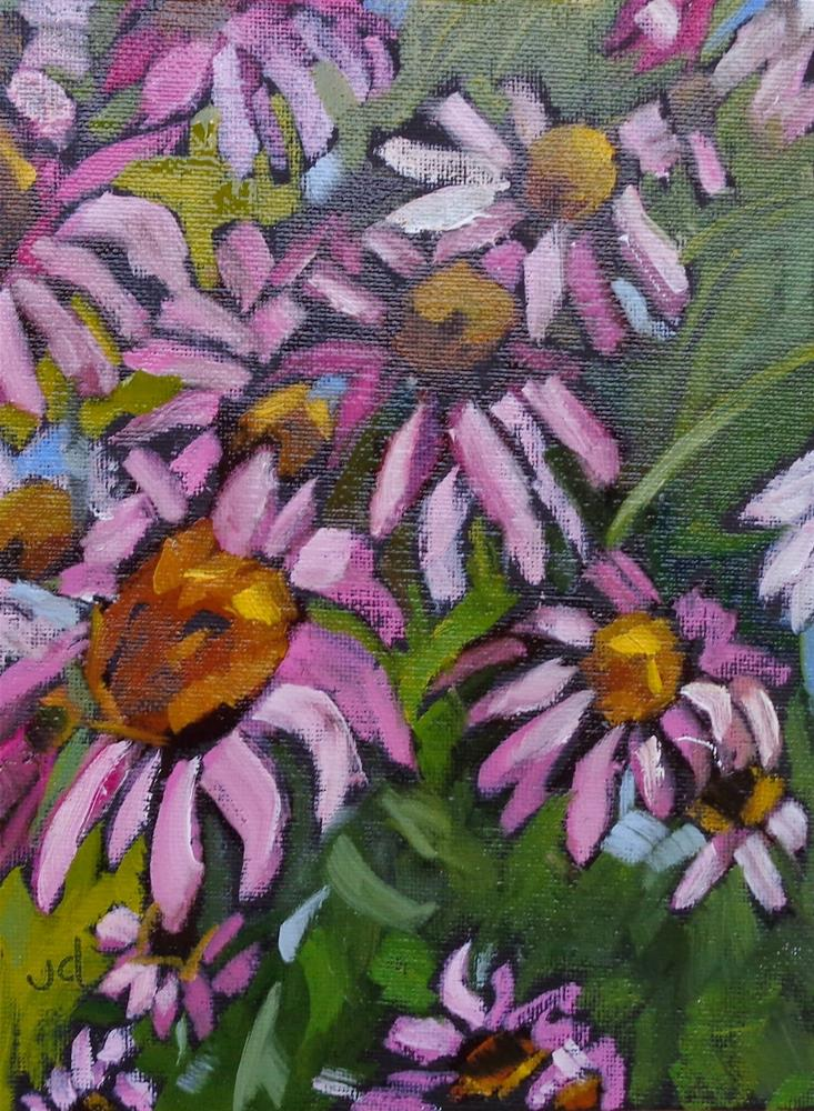 """Pink day"" original fine art by Jean Delaney"