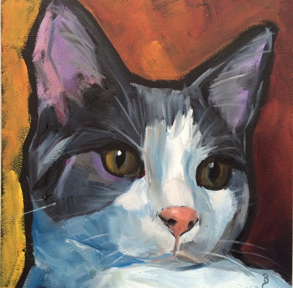 """Kate's Kat"" original fine art by Philla Barkhorn"