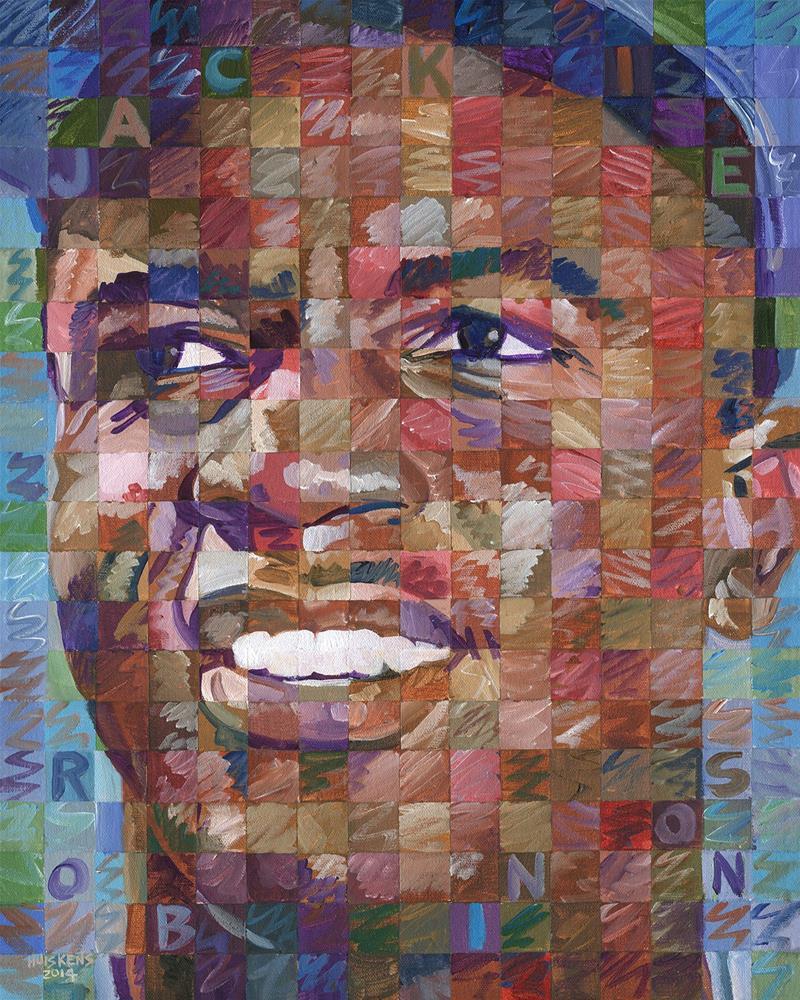 """Jackie Robinson"" original fine art by Randal Huiskens"