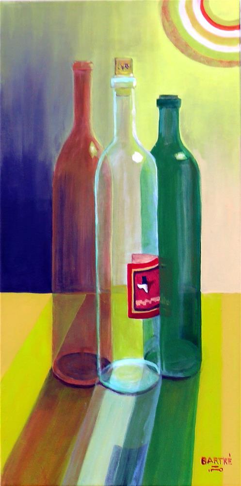 """Three Bottles"" original fine art by Janice Bartke Thompson"
