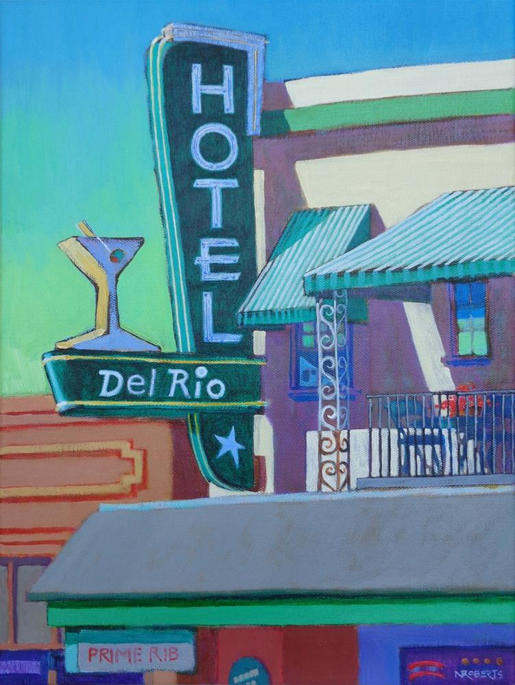 """Hotel del Rio, Isleton"" original fine art by Nancy Roberts"