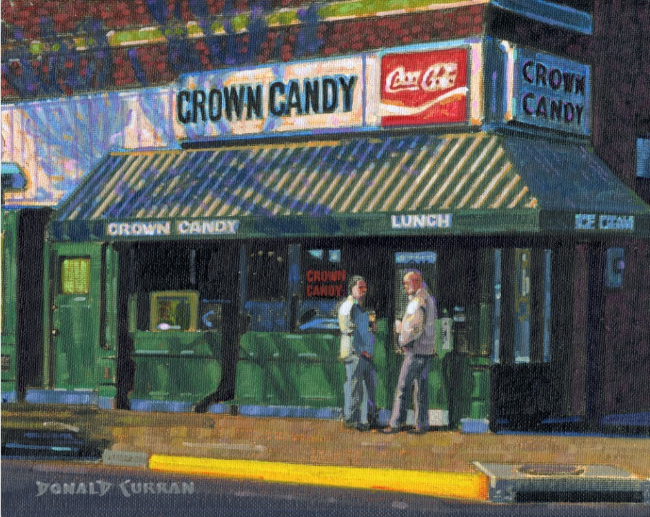 """Crown Candy"" original fine art by Donald Curran"