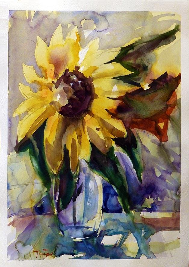 """""""Sonnenblume"""" original fine art by Jurij Frey"""