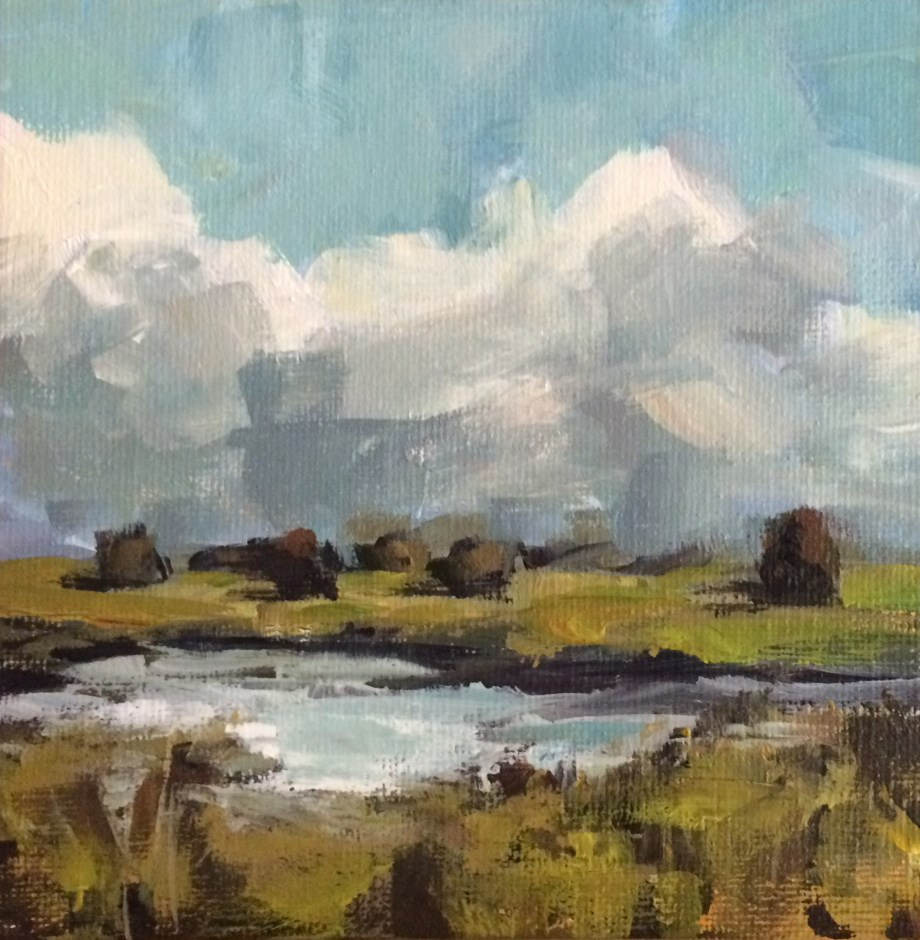 """Marshfield in Autumn"" original fine art by Shannon Bauer"