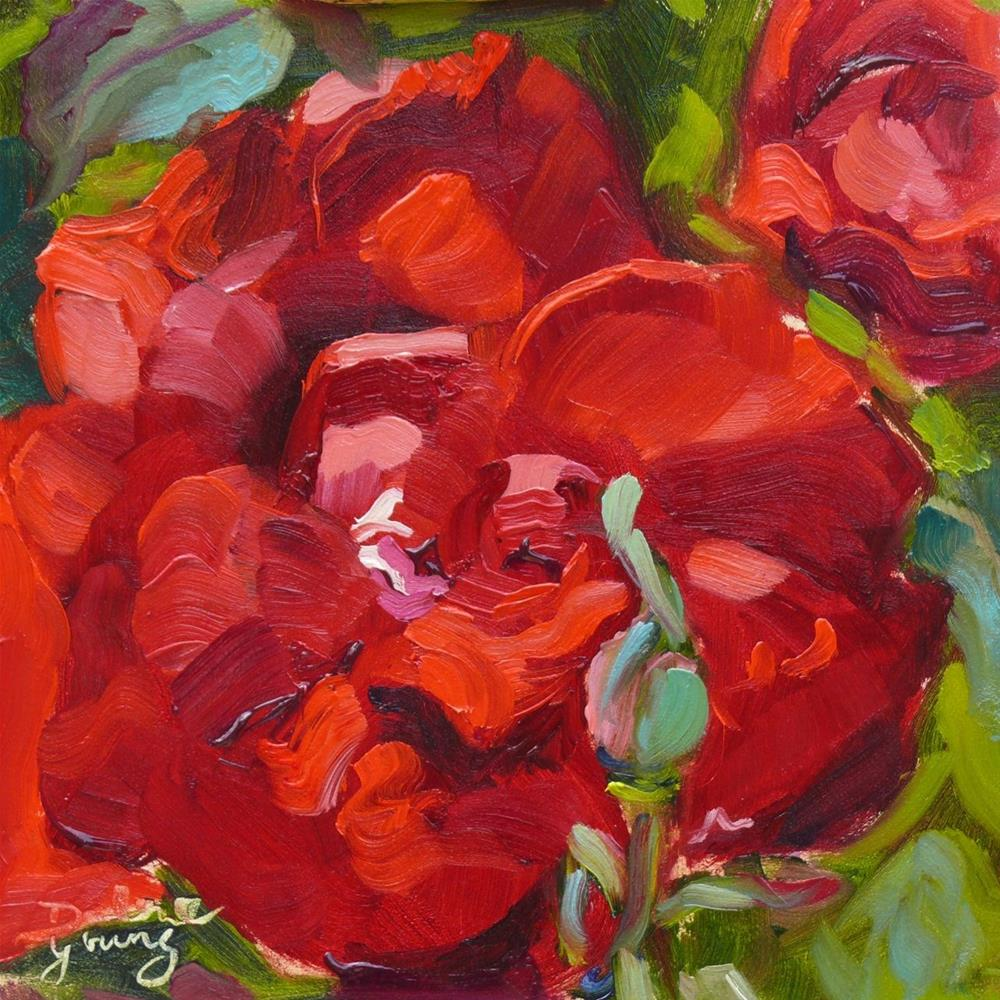 """653 Empress Rose, Opening Night"" original fine art by Darlene Young"