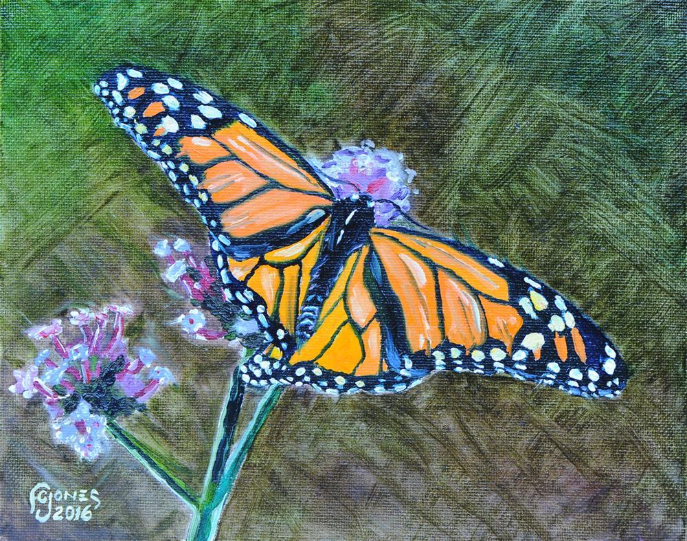 """""""Monarch"""" original fine art by Fred Jones"""