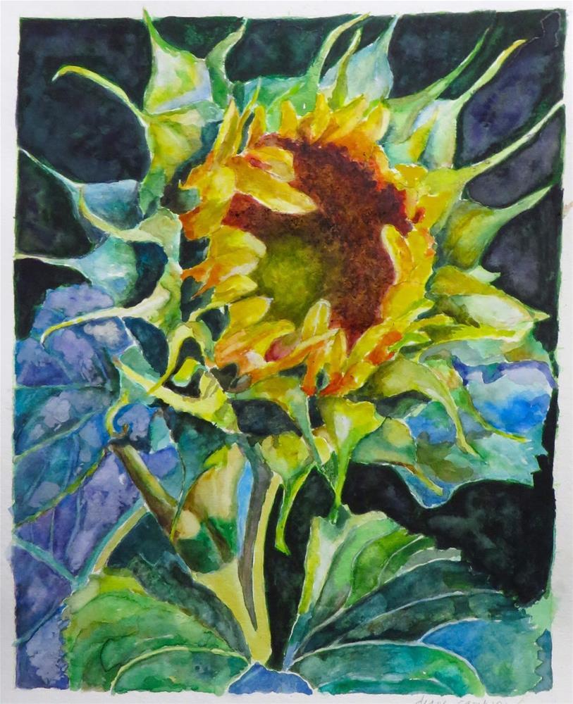 """""""806 Sunflower"""" original fine art by Diane Campion"""