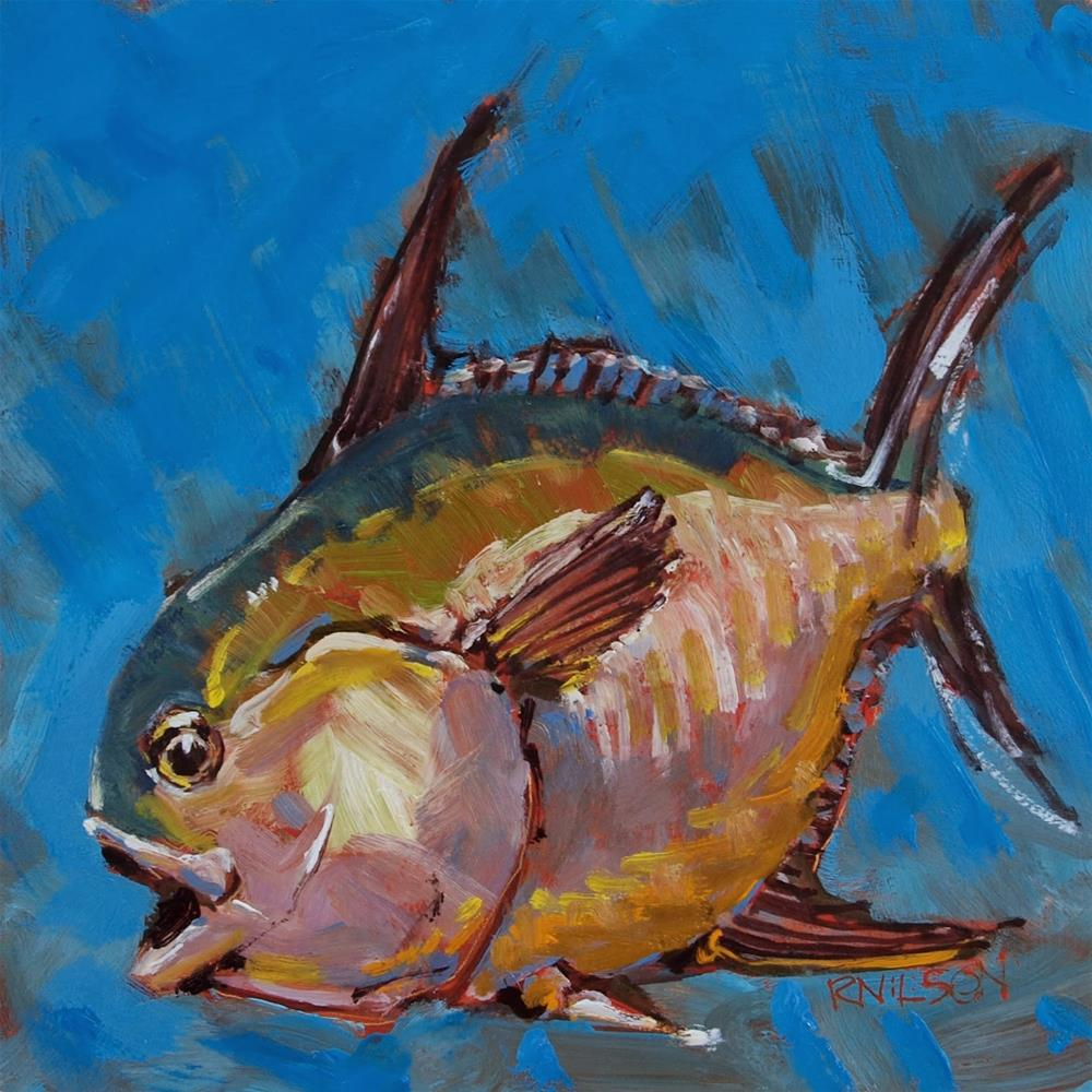 """Pompano"" original fine art by Rick Nilson"