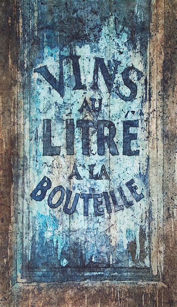 """""""Vins au Litre"""" original fine art by Diane Fujimoto"""