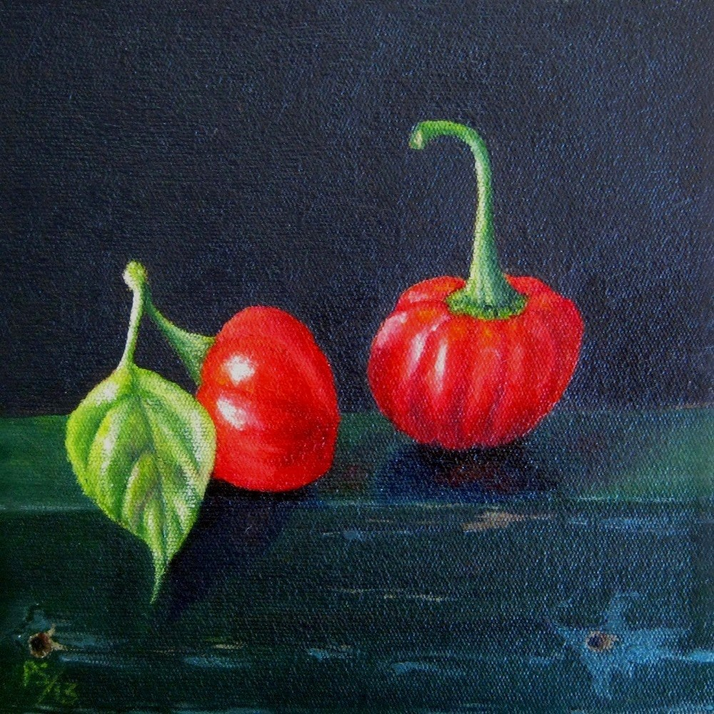 """Two Peppadews"" original fine art by Pera Schillings"