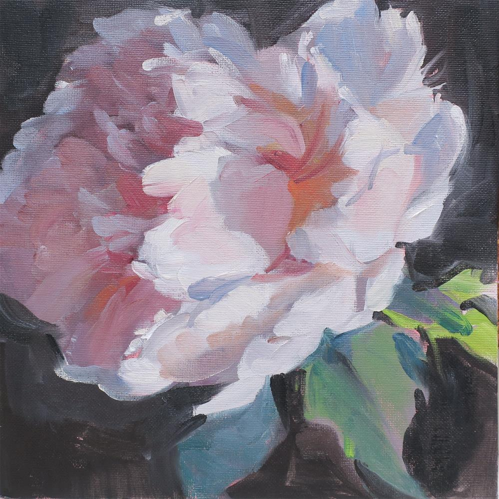 """Pink Peony"" original fine art by Linda Hunt"