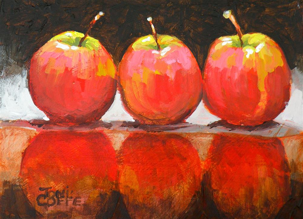"""Reflective Apples"" original fine art by Toni Goffe"