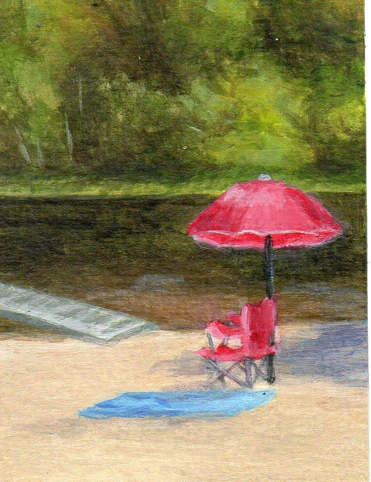 """Summer Siesta"" original fine art by Debbie Shirley"