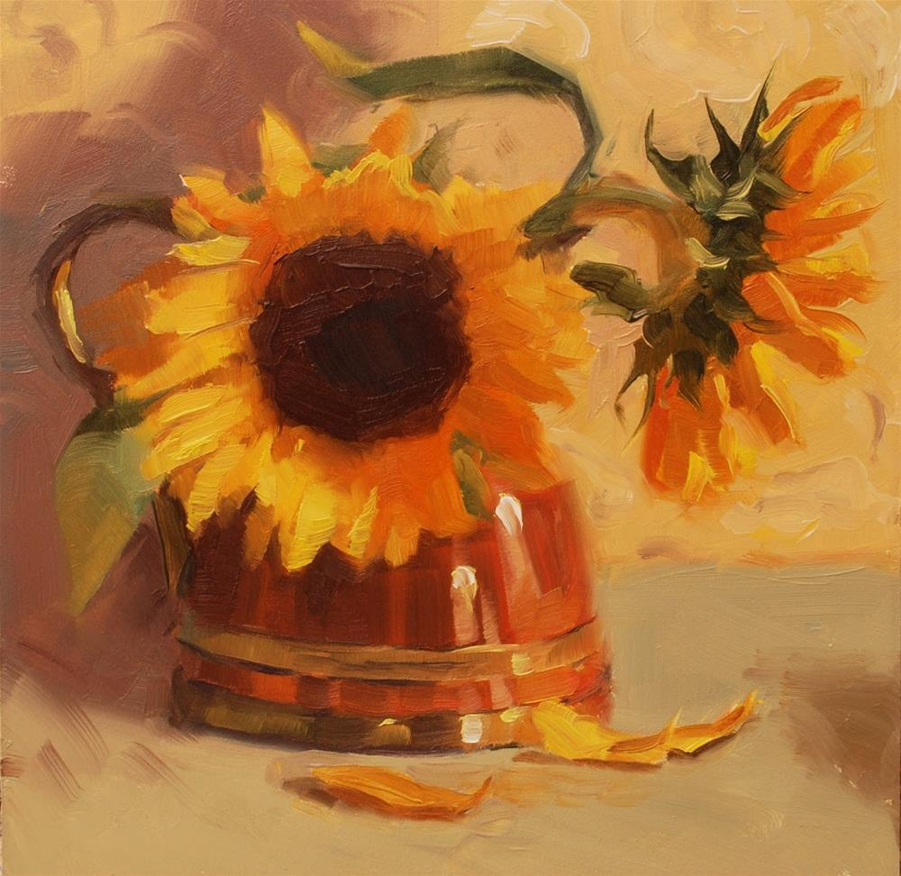 """No. 492 Sunflower Rhapsody"" original fine art by Susan McManamen"