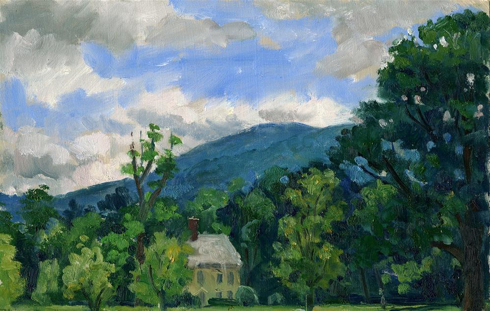 """Summer Sky, Berkshires"" original fine art by Thor Wickstrom"
