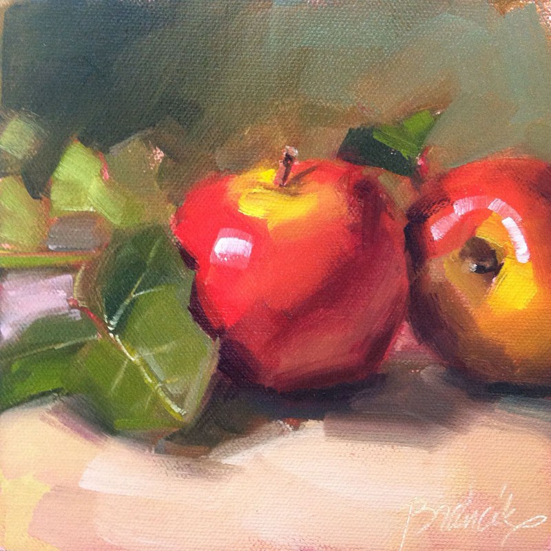 """Apples and Ivy"" original fine art by Candace Brancik"